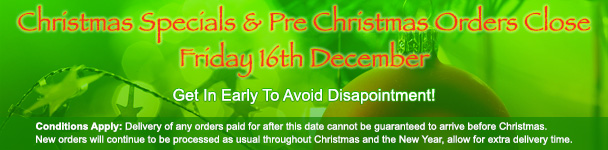 Christmas Specials end December 16th 2016